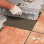 Install ceramic floor tiles as standard shape