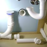 Move relocate water and waste for sink plumbing