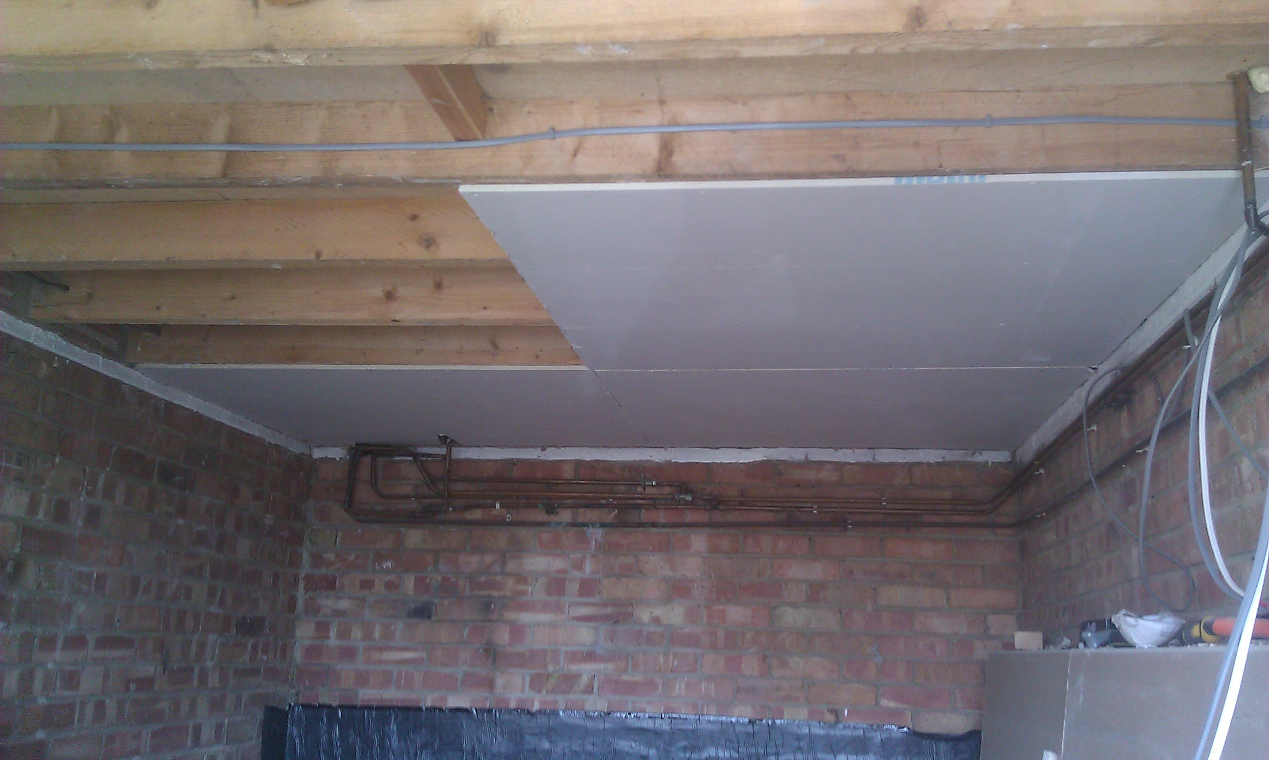 Replace ceiling plasterboard with new one and skim/per sqm | ML ...